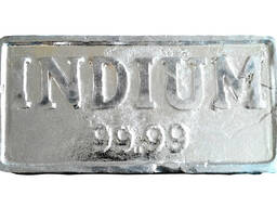 Ingots Indium | тамғаи металлии индий InOO ГОСТ 10297-94
