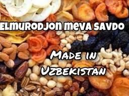 Сухофрукты, фрукты, овощи, веники из Узбекистана